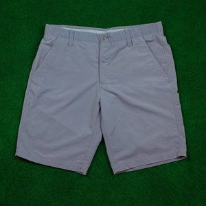Under Armour Solid Grey Shorts